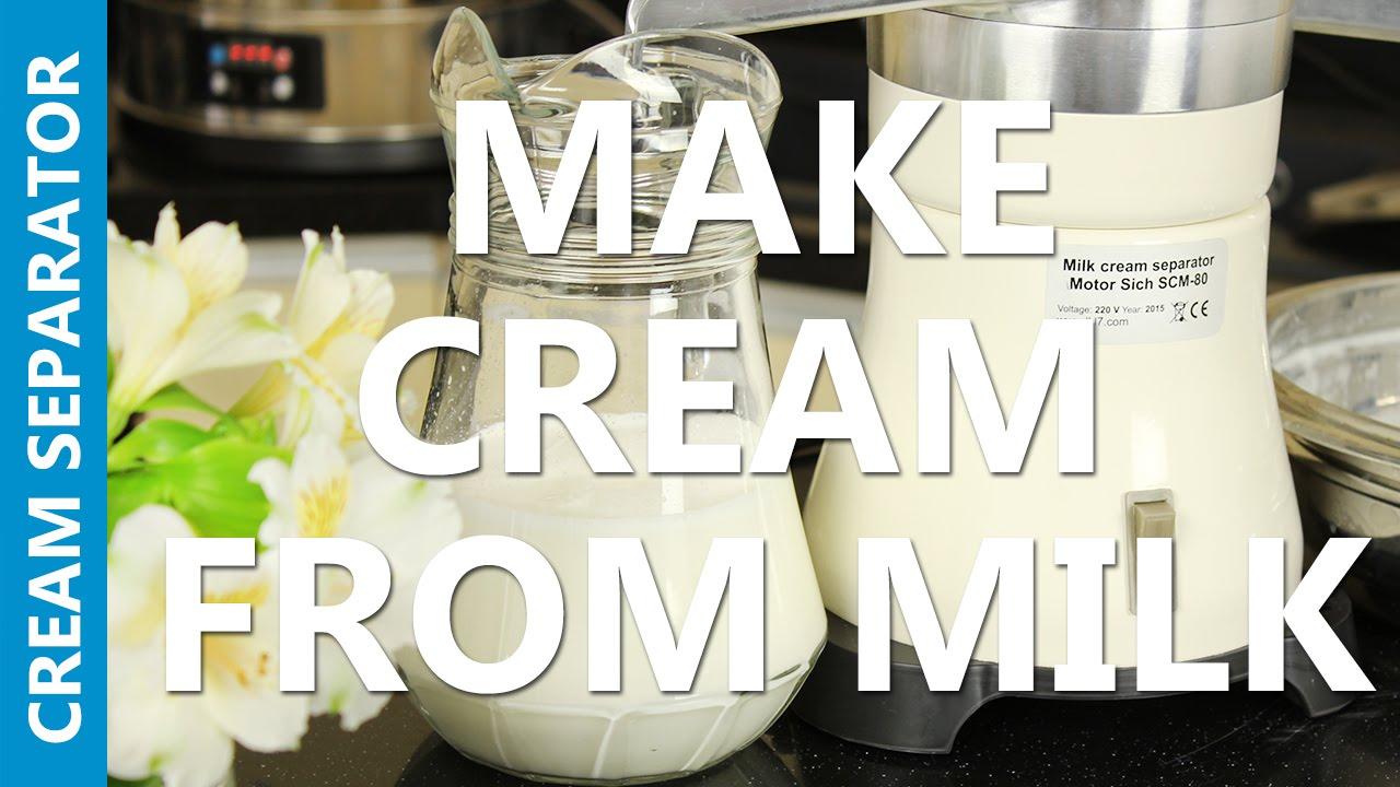 cream from milk with cream separator