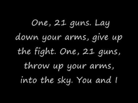 Green Day-21 Guns Lyrics