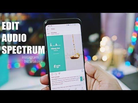 Bikin Postingan Instagram Bicarakopi | Edit Audio Spectrum Android
