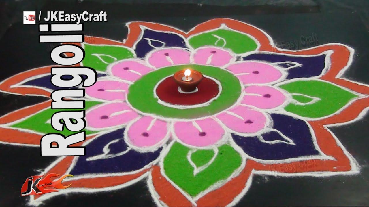 Diy easy rangoli design how to make sand art jk easy for Home made rangoli designs