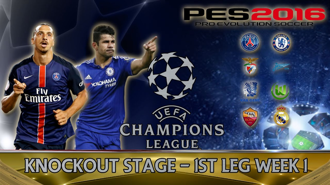 PES 2016 UEFA Champions League - Knockout Stages Last 16 ...