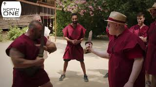 Matt Lucas & Richard Ayoade Gladiatorial Training in Rome - Travel Man: 48hrs in...