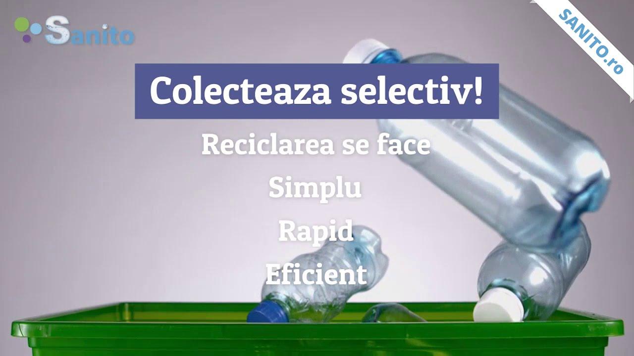 Colecteaza eficient deseurile cu cosurile de gunoi Sanito.ro