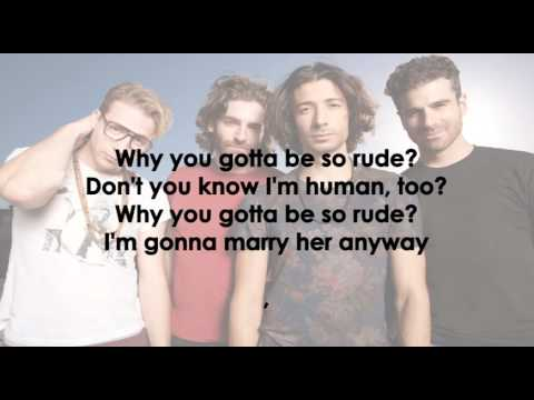 Magic! - Rude Lyrics