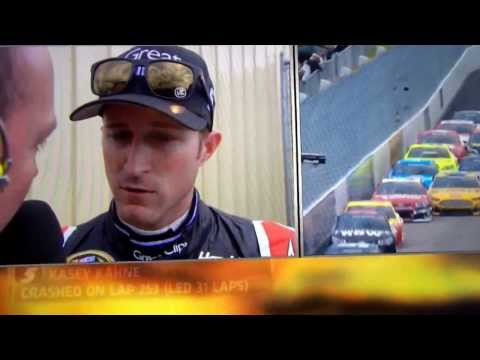 Worst interview ever. NASCAR Kasey Kahne at NMS