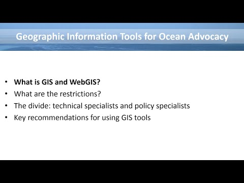 Geographic Information Tools for Ocean Advocacy