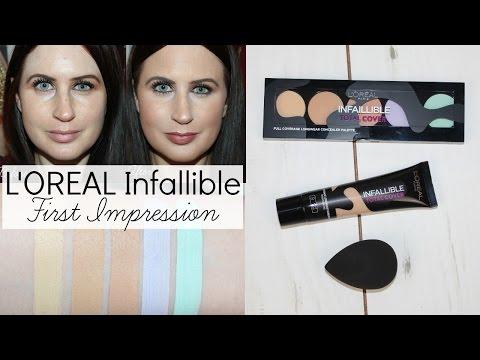 L'Oreal Infallible Total Cover Foundation, Concealer Palette & Blender | FIRST IMPRESSION