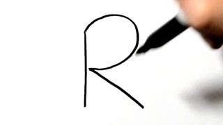 How to Draw a Rabbit After Writing Letter R - LetterToons