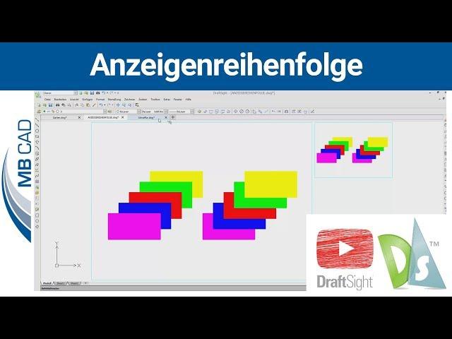 Anzeigenreihenfolge in DraftSight - Versteckte und verdeckte Elemente sichtbar machen | MB CAD
