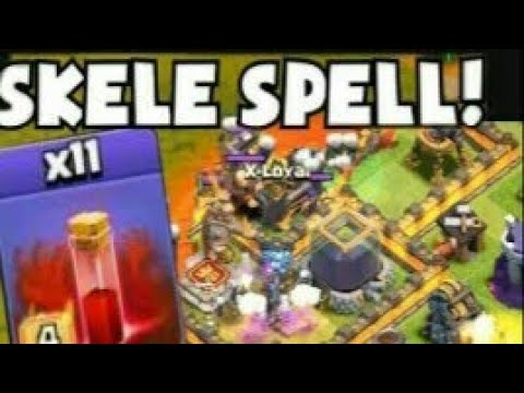 Remove Clan Castle Troops Using Skeleton Spell !!!!!!!!