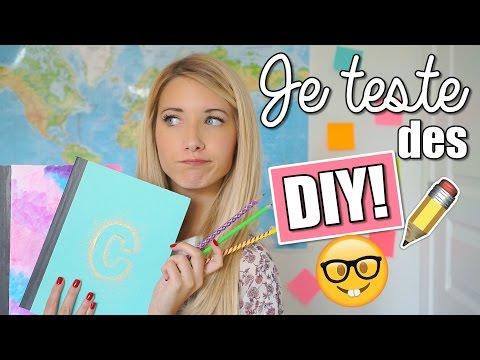 JE TESTE DES DIY PINTEREST | BACK TO SCHOOL 2016