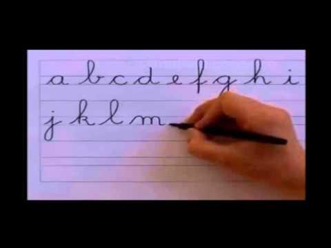 Alfabeto com as letras cursivas minúsculas