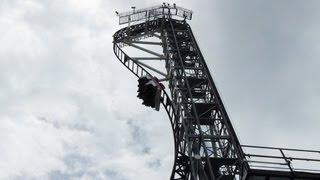 Takabisha World's Steepest Roller Coaster POV Fuji-Q Highland Japan thumbnail
