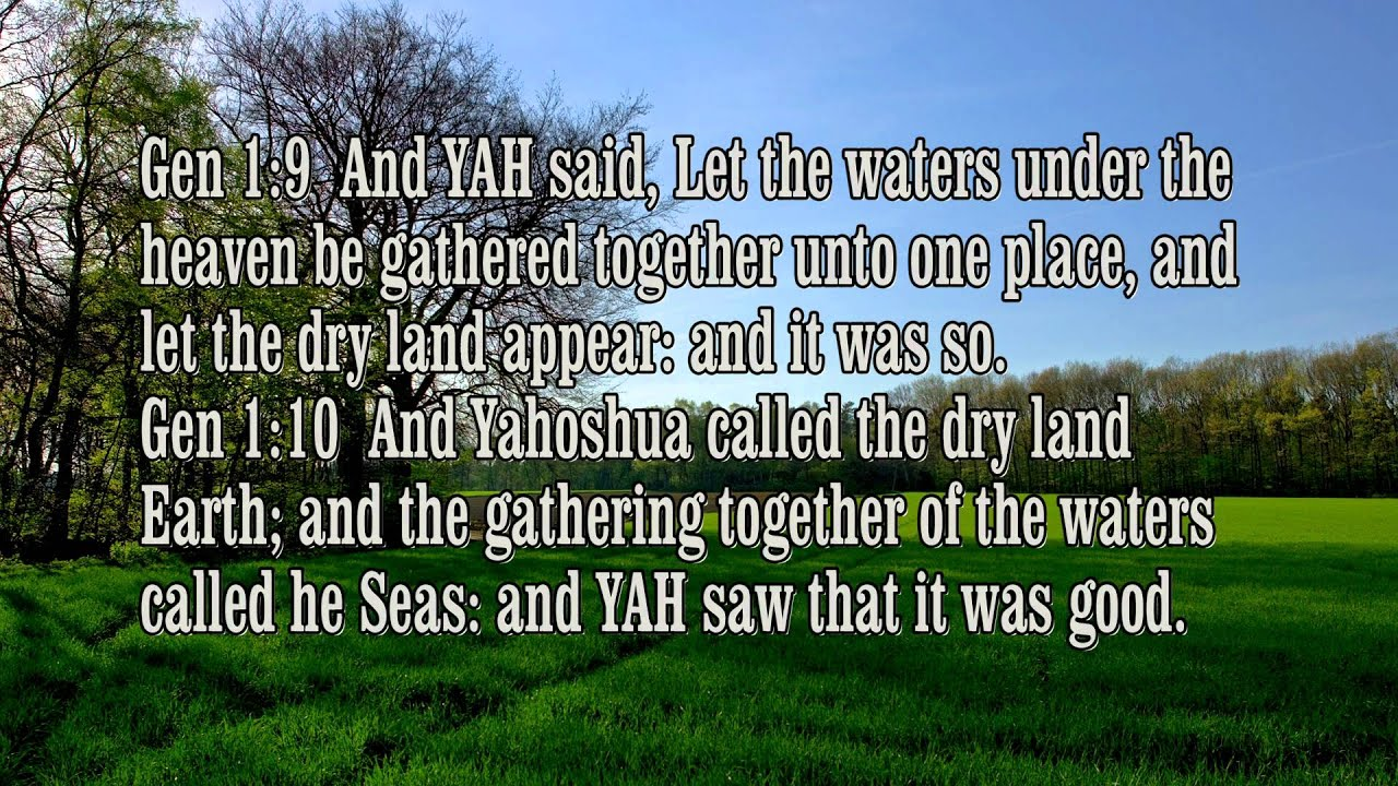 Genesis 1 The LIGHT (Yahoshua) and The 6 days of CREATION