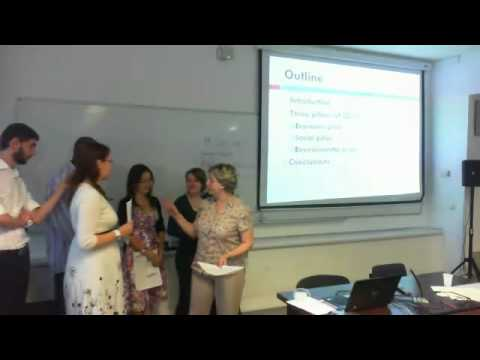 "Group C ""Economy and sustainability"" final presentations"