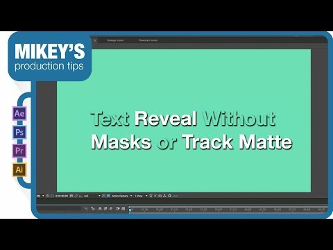Text Reveal Without Masks Or Track Mattes In After Effects
