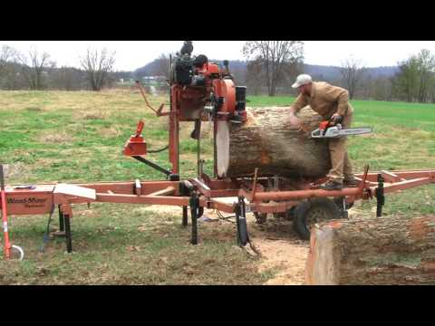 Don't tell my wife how I did this! Wood-Mizer sawing 'impossible' HUGE Pecan log