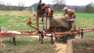 Don't tell my wife how I did this! Wood-Mizer sawing