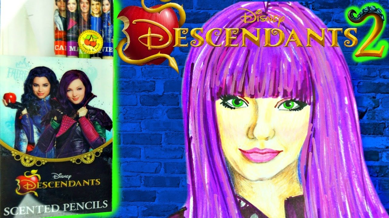 Disney Descendants 2 Draw New Mal Coloring With Scented