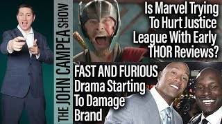 Marvel Trying To Hurt Justice League With Early THOR  Reviews? - The John Campea Show