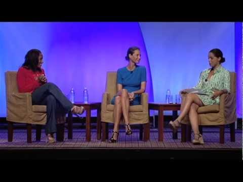 Soledad O'Brien, Christy Turlington Burns and Malaak Compton-Rock at BlogHer '12