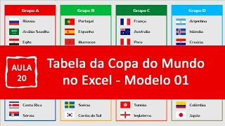 Tabela da Copa do Mundo 2018 | Aula 20 | Inserindo Hiperlink