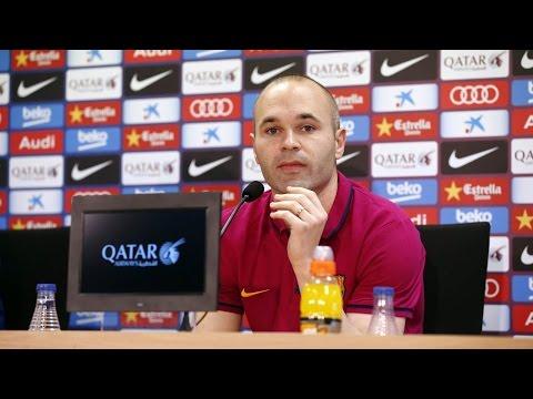 EL CLÁSICO - Press conference with Andrés Iniesta (30/03/2016)