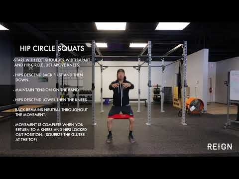 Hip Circle Squats | Exercise Demo Reign Fitness
