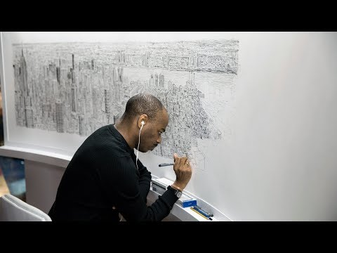 He Draws New York's Skyline From Memory | The Daily 360