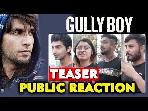 Asli Hip Hop   GULLY BOYS TEASER   Ranveer Singh   Alia Bhatt   PUBLIC REACTION