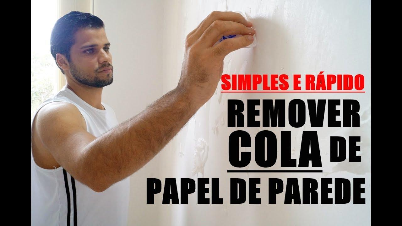 Como remover cola de papel de parede jeito simples e - Cola para pegar papel ...