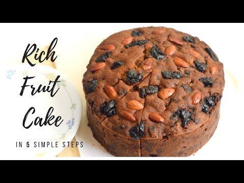 Rich Christmas Fruit Cake/Christmas Cake Recipe/Easy Fruit Cake Recipe