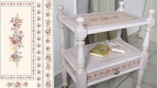 How to shabby chic a furniture. Chalk painted table. Decoupage tutorial - DIY..