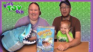 Bin Vs. Jon - SHARK BITE GAME! | Bin's Toy Bin