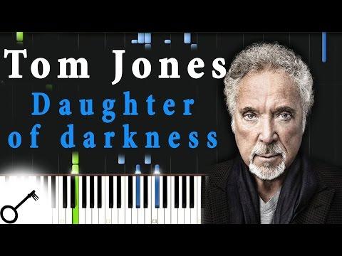 Tom Jones - Daughter of darkness [Piano Tutorial] Synthesia | passkeypiano