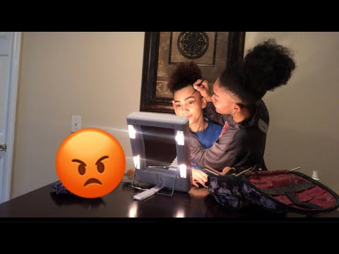 ANNOYING MY GF WHILE SHE DOES HER MAKEUP!!!