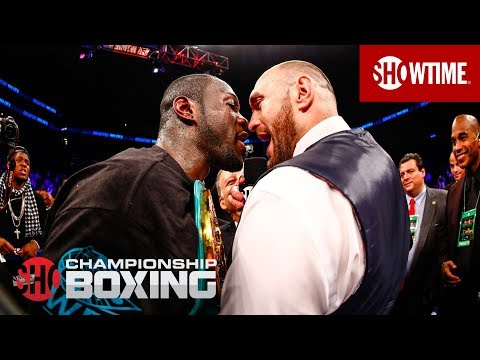 Deontay Wilder and Tyson Fury Exchange Words | SHOWTIME CHAMPIONSHIP BOXING