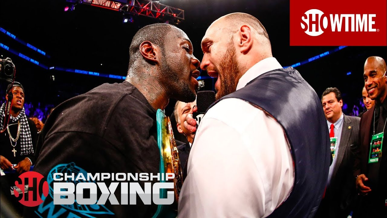 Deontay Wilder & Tyson Fury Exchange Words | SHOWTIME CHAMPIONSHIP BOXING
