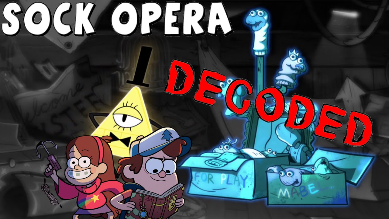 gravity falls quotsock operaquot secret codes decoded youtube
