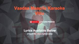 Vaada Maappilley Karaoke Villu Karaoke