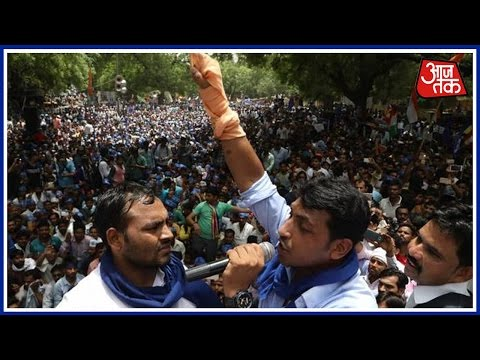 More Than 20,000 Members Of Bhim Army Protests At Jantar Matar, Delhi