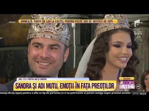 Lui Adrian Mutu i-a tresărit inima când a văzut-o pe Sandra, în rochie de mireasă!