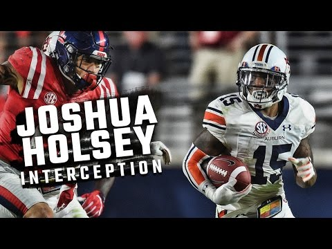 Josh Holsey intercepts Chad Kelly in 'play of the game' of Auburn's win at Ole Miss