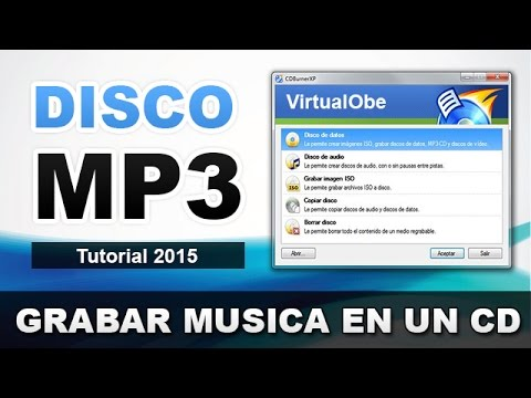 COMO GRABAR UN DISCO MP3 | GRABAR UN CD DE MUSICA MP3 EN WINDOWS XP/7/8/10