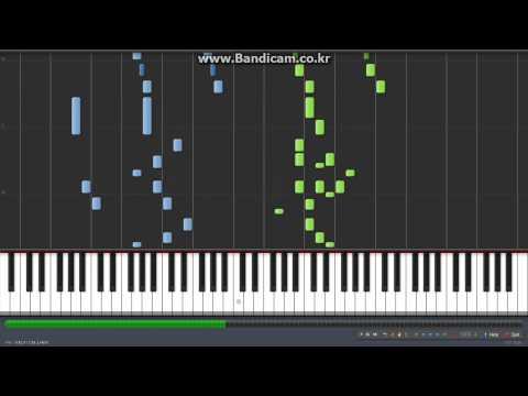 Maplestory Ereve Hunting Field Piano tutorial (RainDrop Flower) // 메이플스토리 에레브 사냥터 피아노 악보