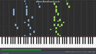 Maplestory Ereve Hunting Field Piano tutorial (RainDrop Flower) // 메이플스토리 에레브 사냥터 피아노 악보