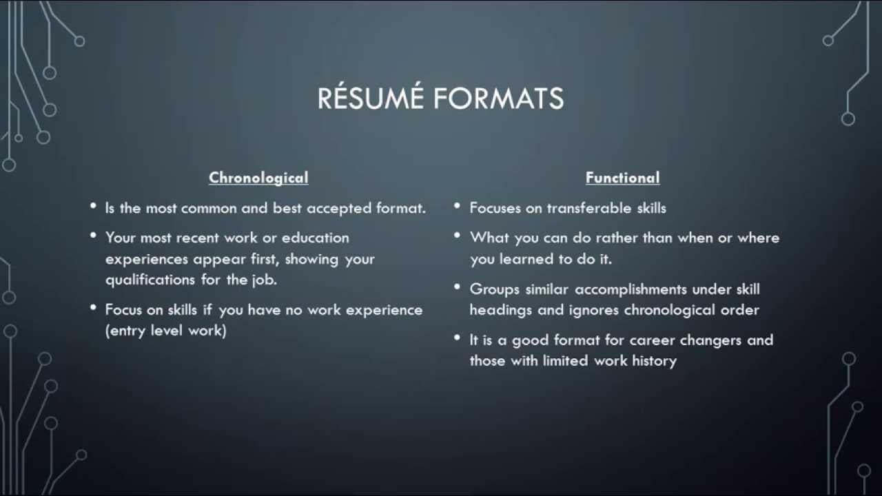 Resume\' Building ppt - YouTube