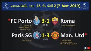 ผลบอล-ucl-รอบ16ทีม-นัด2-แมนยูพลิกนรก-บุกสอยปารีส-เข้ารอบต่อไปได้-ปอร์โต้คว่ำโรม่า-7-mar-2019