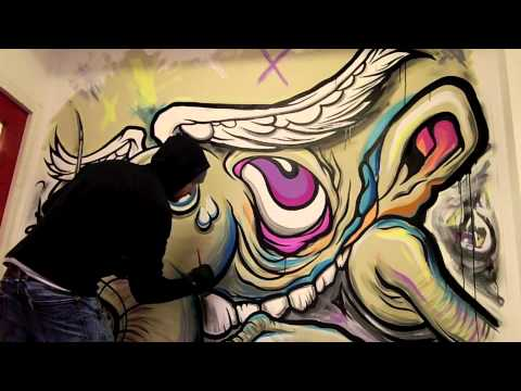 Drawntoplay presents 'A Shop Odyssey' Exclusive video Urban Graffiti 'speed painting'