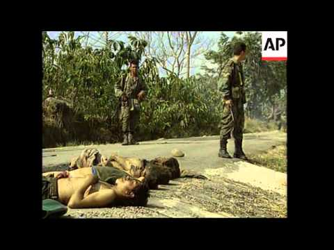 COLOMBIA: GOVERNMENT FORCES CLASH WITH REVOLUTIONARY GROUP (2)